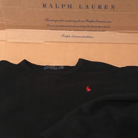 Polo by Ralph Lauren Other - Polo Ralph Lauren Black Crewneck Swearshirt Size L